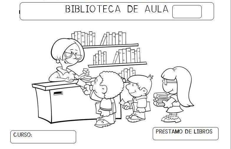 Desenho De Biblioteca Para Colorir: Soñando Sonrisas...: Préstamo De Cuentos De La Biblioteca