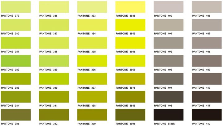 Pantone Color Chart  Executive Apparel  Kaartjies