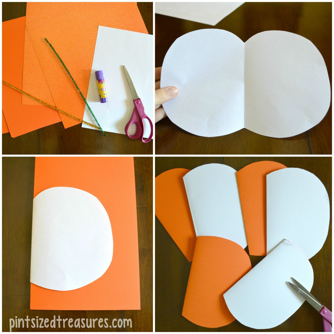 Pumpkin Craft Ideas For Kids Part - 50: Easy Paper Pumpkin Craft