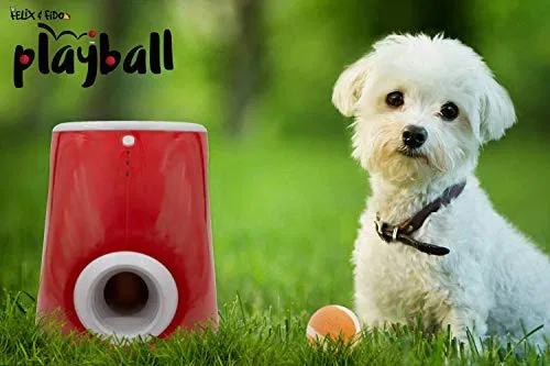 Felix Fido Playball Automatic Ball Launcher For Dogs 3 Throwing Distance Best Petsep Com In 2020 Dog Ball Dog Ball Launcher Ball Launcher
