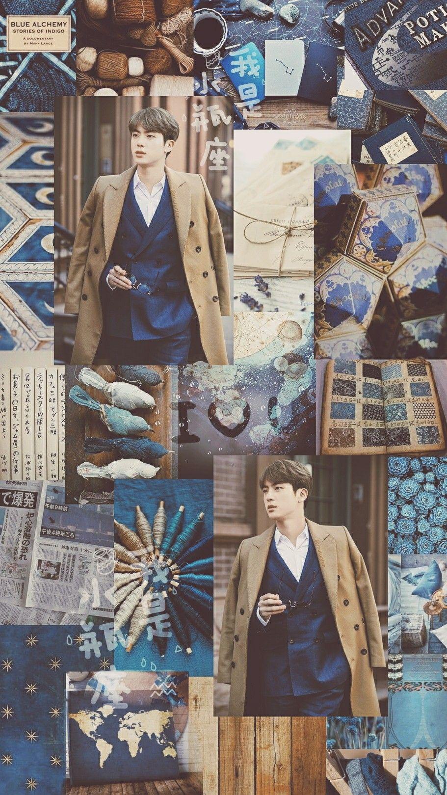 Jin Aesthetic Wallpaper Credits To Pinterest Yoongieah C If You Repost Give A Credits Please I Hope You Enjoy Seokjin Jin Wallpaper Lucu Lucu Gambar