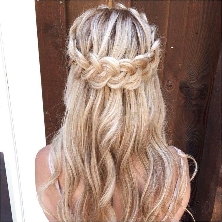 Dutch Crown Braid Half Up Half Down Hairstyl Partial Updo Bridal