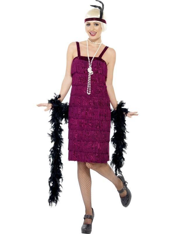 Adult Female Jazz Flapper Costume 1920'S Razzle Smiffys Fancy Dress ...