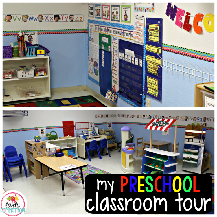 Inside Collaborative Classroom ~ My pre k classroom tour pint sized collaborative