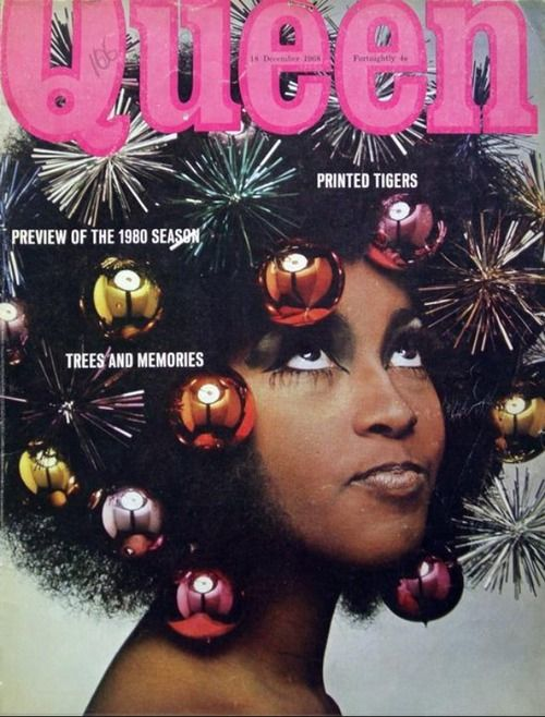 the60sbazaar marsha hunt on the christmas 1968 cover of queen magazine