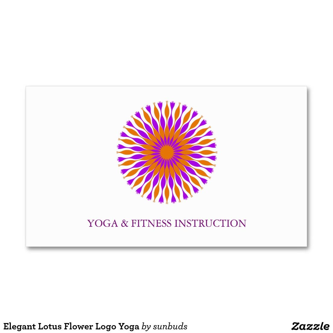 Elegant Lotus Flower Logo Yoga Business Card Cards And Postage