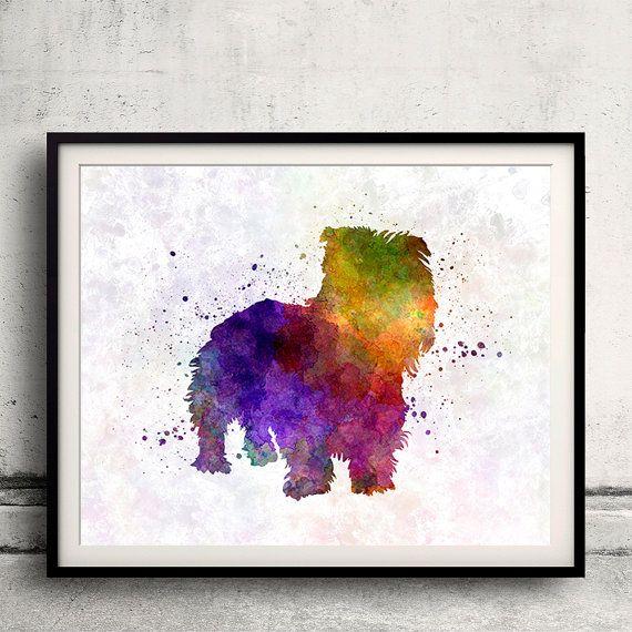 glen of imaal terrier dog 8x10 art print poster watercolor painting