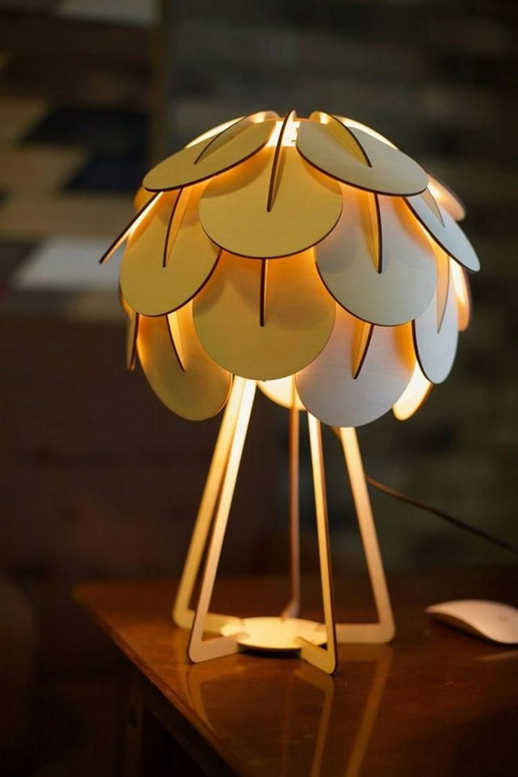 35 Unique And Creative Table Lamp Design In 2020 Houten Lamp