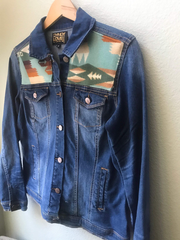 Denim Jean Jacket Pendleton Wool Native American Jacket In 2021 Denim Jacket Jean Jacket Embellished Denim [ 3000 x 2250 Pixel ]