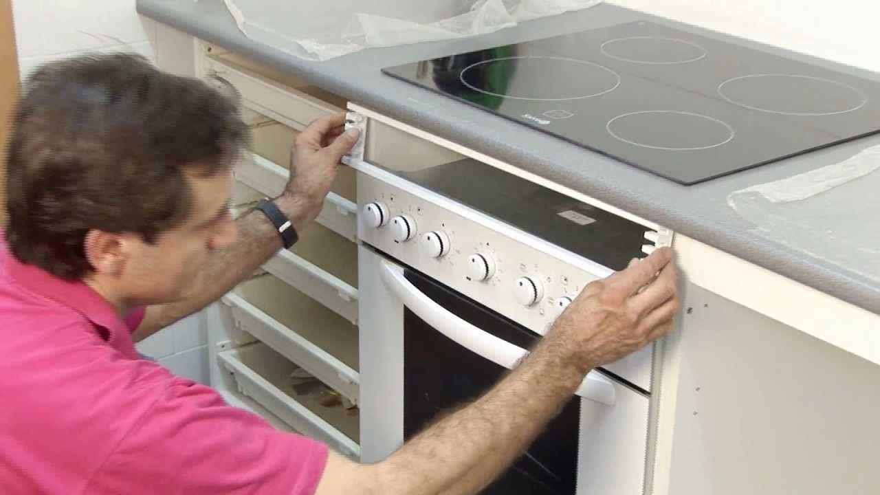 Instalar una placa de cocina y un horno bricocracktv - Vitroceramicas leroy merlin ...