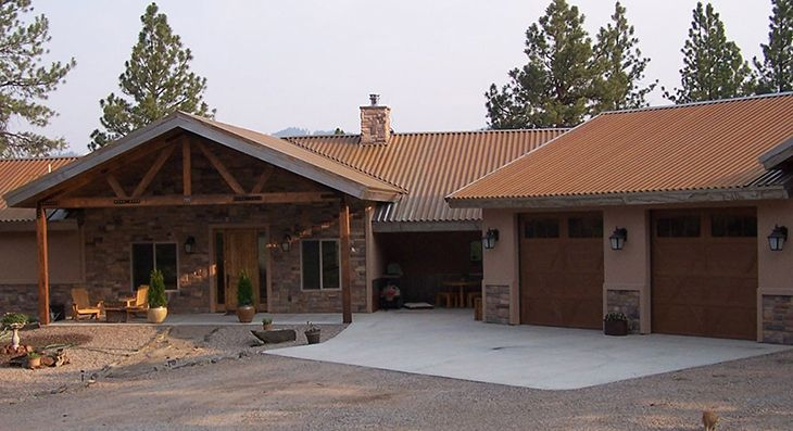 Western Rib Roofing Bare Steel Roofing Metal Roof Panels House Styles