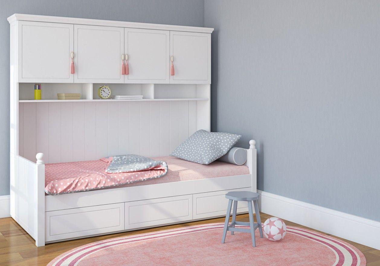 idee fuers kinderzimmer maedchentraum in weiss grau und rosa ... - Kinderzimmer Farben Ideen Mdchen