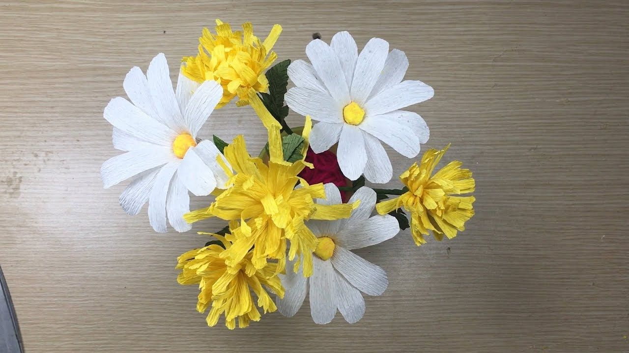 Diy Crepe Paper Daisy Flower Craft Ideas