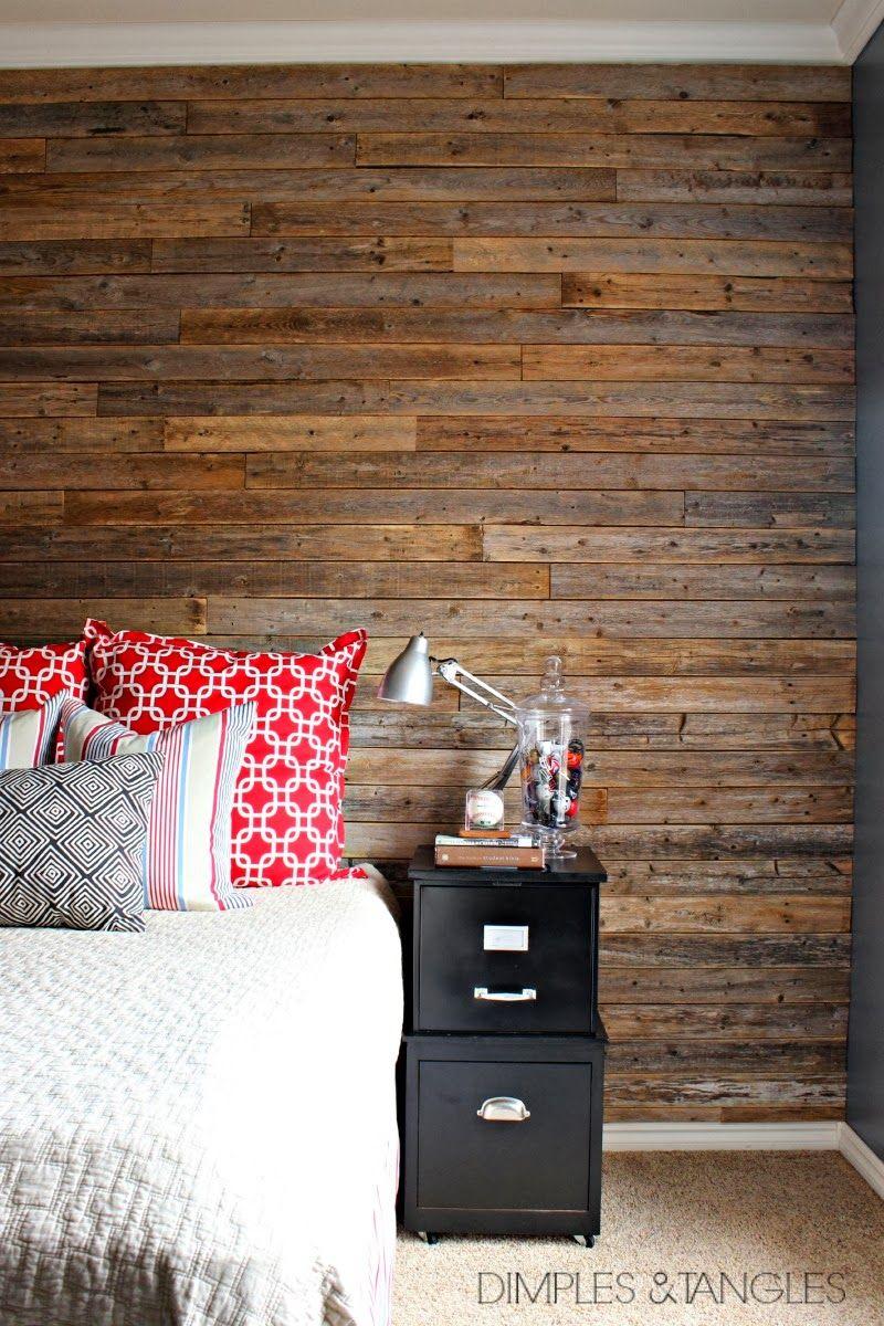 Diy wood fence plank wall tutorial diy home decor