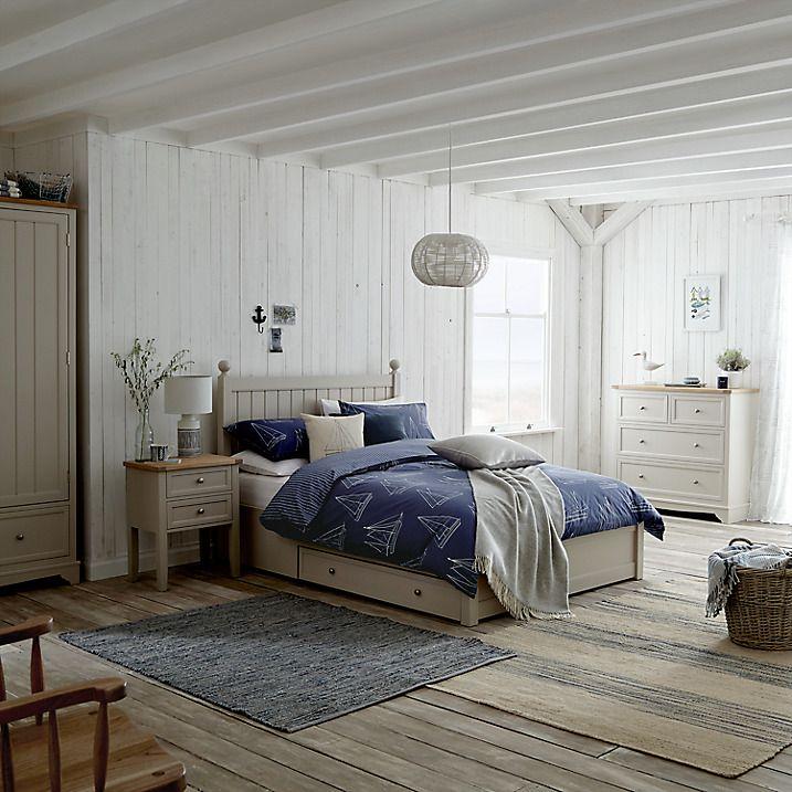 Buy John Lewis St Ives Storage Bed Double Grey Online at johnlewis.com & St Ives Storage Bed FSC-Certified (Oak Birch Oak Veneer MDF ...