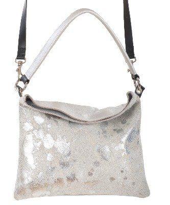 ce19e68e4a61 Owen Barry Silver Acido Cowhide Iggy 3 in 1 Crossbody   Clutch   Should Bag  Handbag