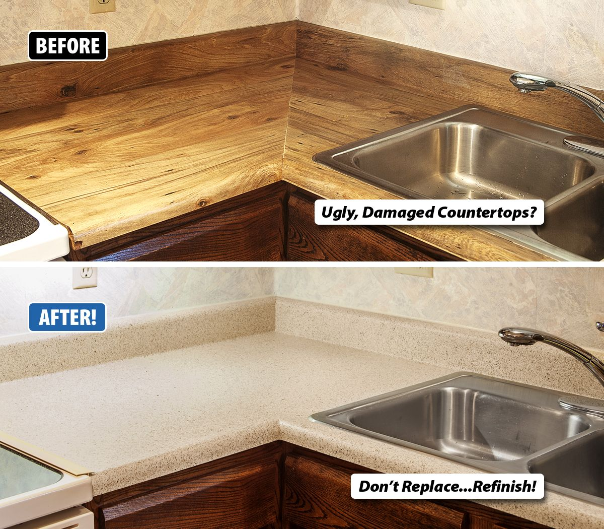 Are Your Countertops Chipped Damaged Or Just Plain Ugly