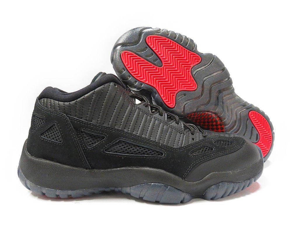 6a0ed52c3 306008-003  AIR JORDAN 11 RETRO LOW BLACK TRUE RED MENS SNEAKERS Sz ...