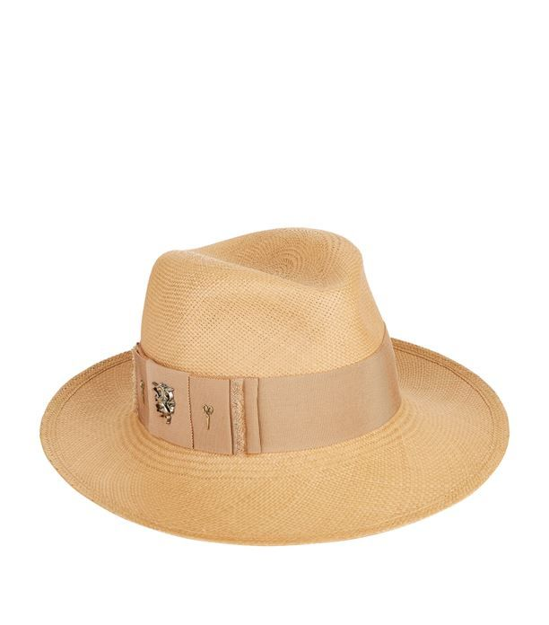 Philip Treacy Panama Straw Trilby Hat available to buy at Harrods.Shop for  her online and earn Rewards points. a8d5ee306322