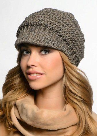Вязаные кепки (44 фото): модели для женщин и девочек с ...