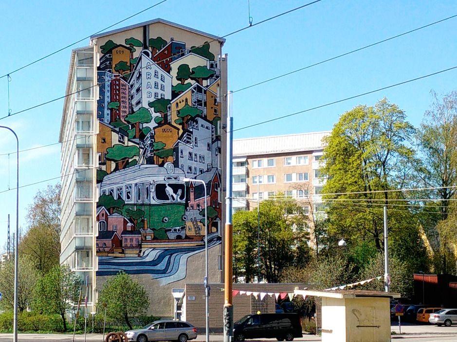 Amazing street art - Mural in Helsinki, Finland #helsinki #streetart #mural