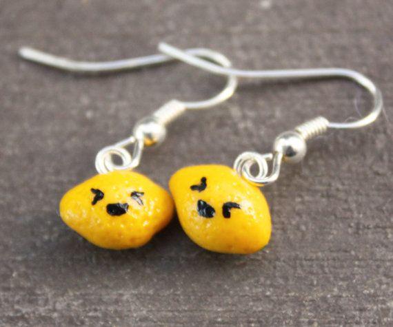 Lemon Earrings by DebraMarieDesigns on Etsy, $11.95