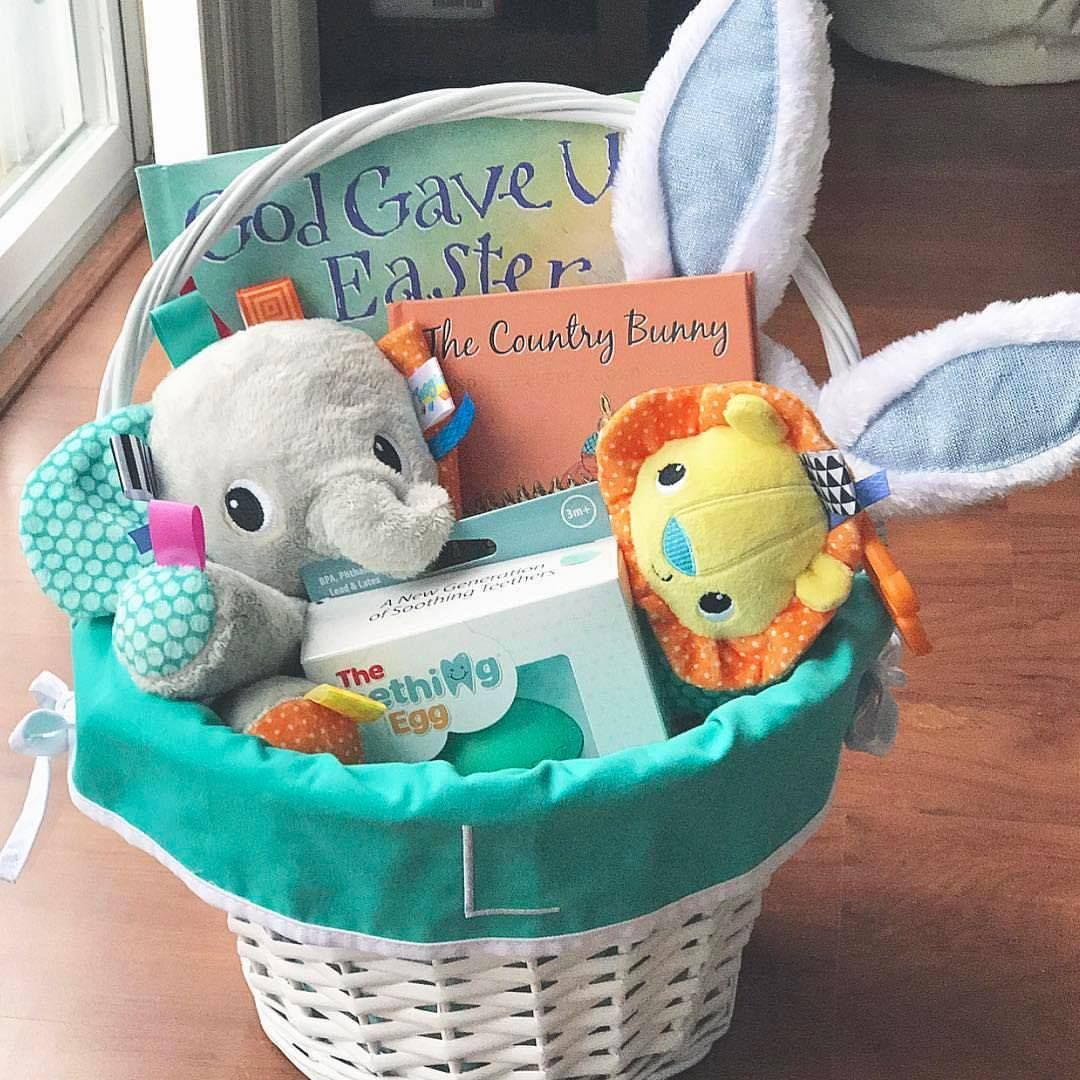 Babys first easter basket ideas from