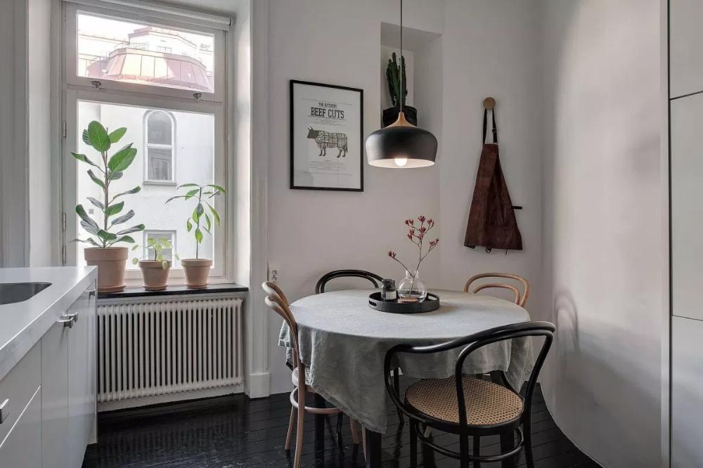 Cocina Cerrada Nordica Sala De Estar Sencilla Decoracion De