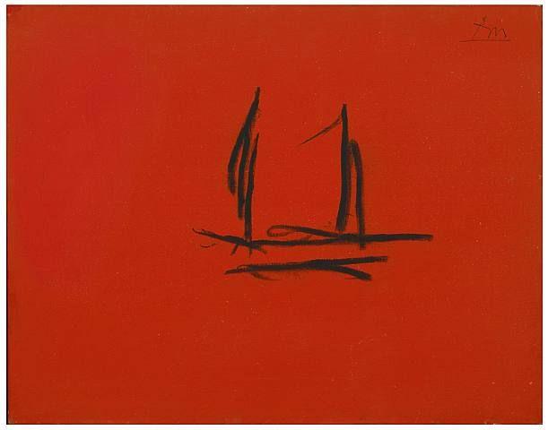 Red Open, 1980, Robert Motherwell