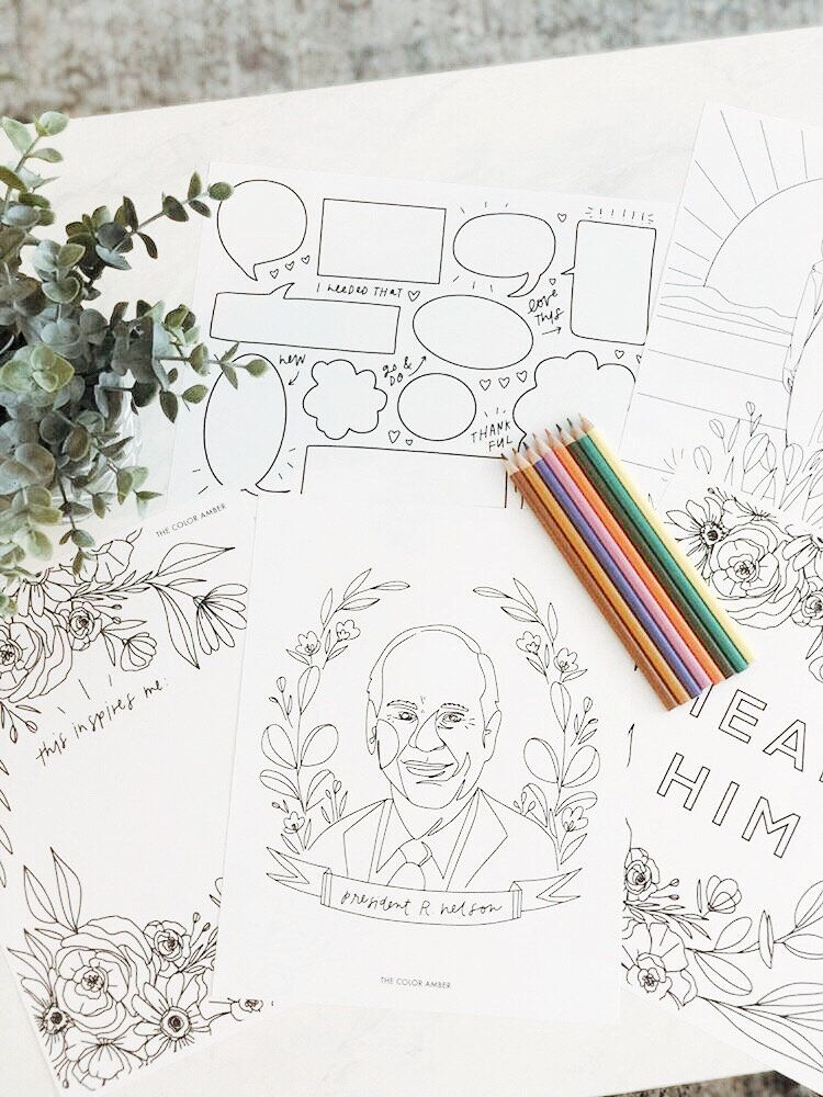General Conference 2020 Free Coloring Pages The Color Amber In 2020 Free Coloring Pages Coloring Pages Free Coloring
