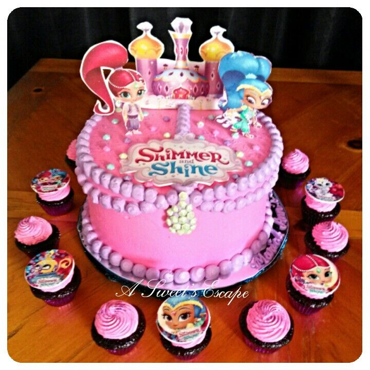 Shimmer and shine cake cupcakes Shimmer and Shine birthday
