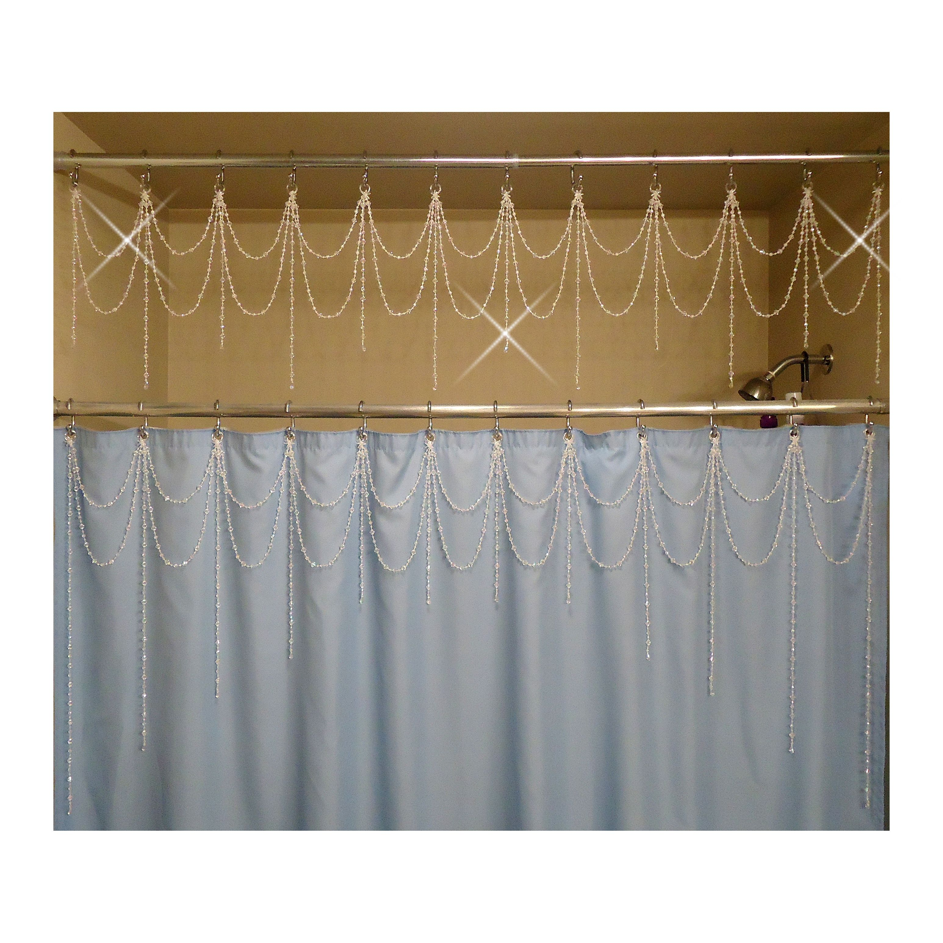 Top Bathtub Shower Header Bling Double Swag With Short