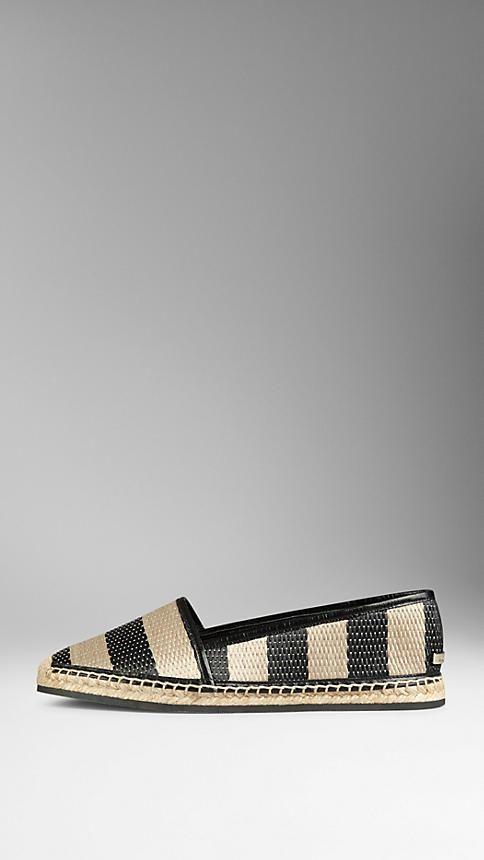 a6931fb53 Black/honey Striped Woven Espadrilles Burberry Sale, Black Honey, Love List,  Shoe
