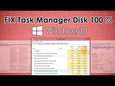 Fixed Task Manager Disk Showing 100 And Lagging On Windows 10