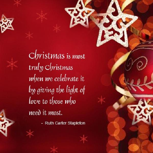 Light Of Love Christmas Quote Kerst Teksten