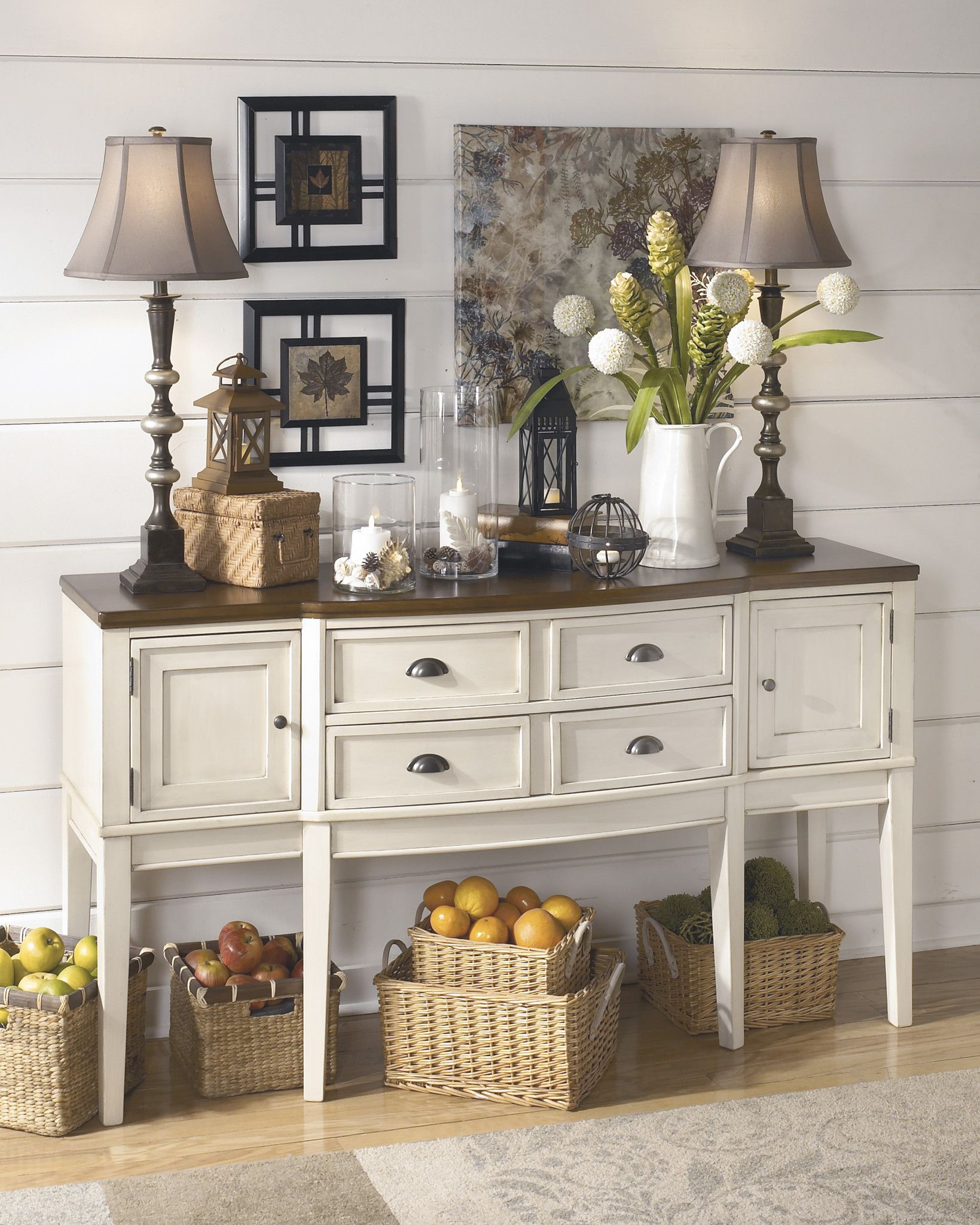 Miraculous Whitesburg Dining Room Server Home Decor 2 Dining Room Interior Design Ideas Apansoteloinfo