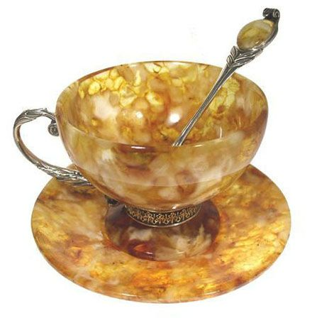 Cups made of Amber ~ Harvest Gold