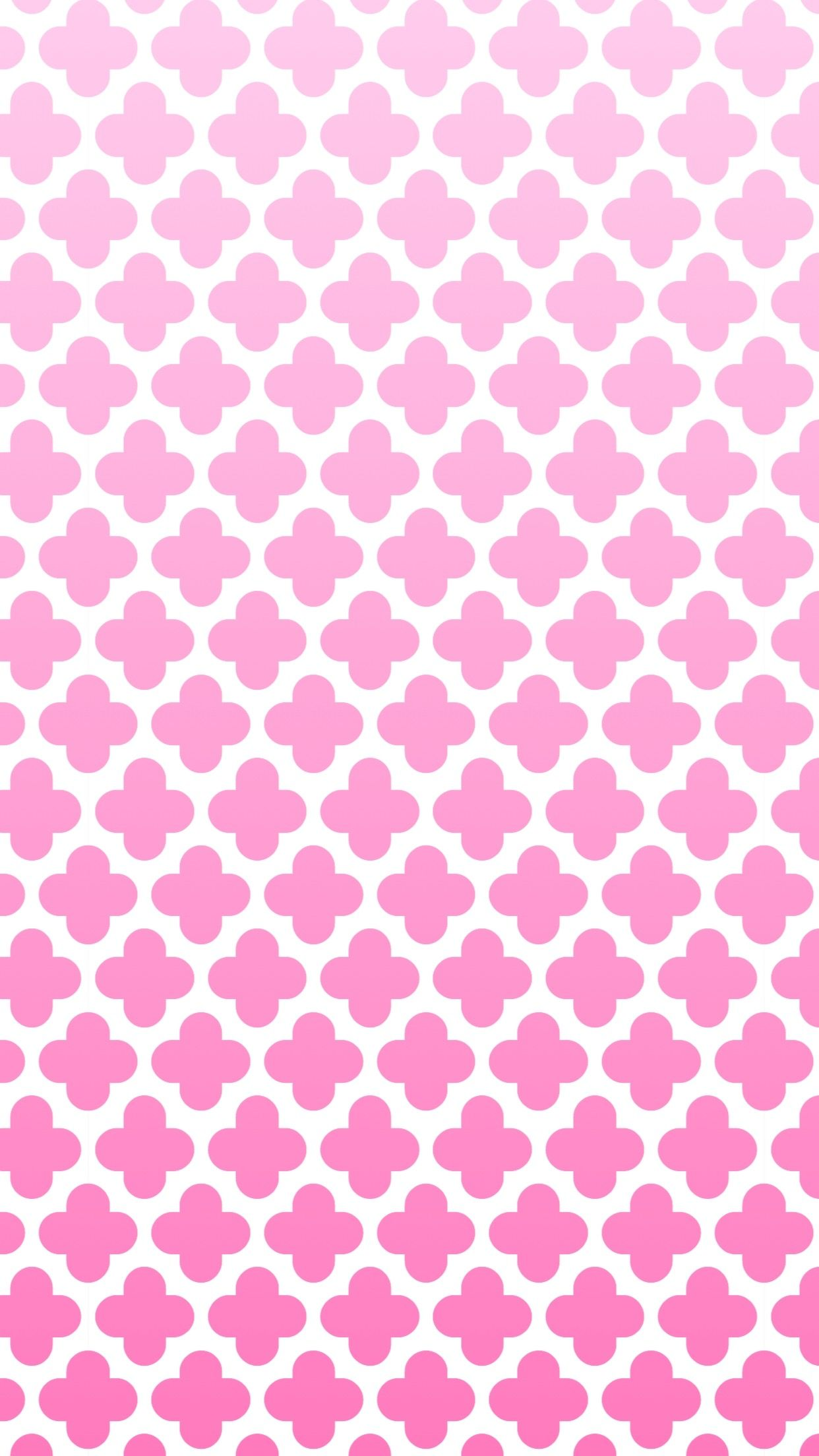 iPhone wallpaper cute pink girly quatrefoil   Iphone ...