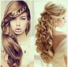 Image Result For Grade 8 Grad Hairstyles Hair Styles Curly Hair Styles Cute Prom Hairstyles