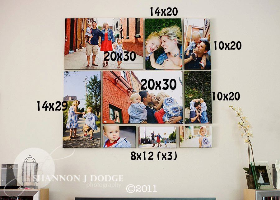 Love This Canvas Collage Idea Plus Has Dimensions