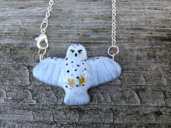 Harry Potter Inspired Hedwig Necklace by HoveringHummingbird, $18.00