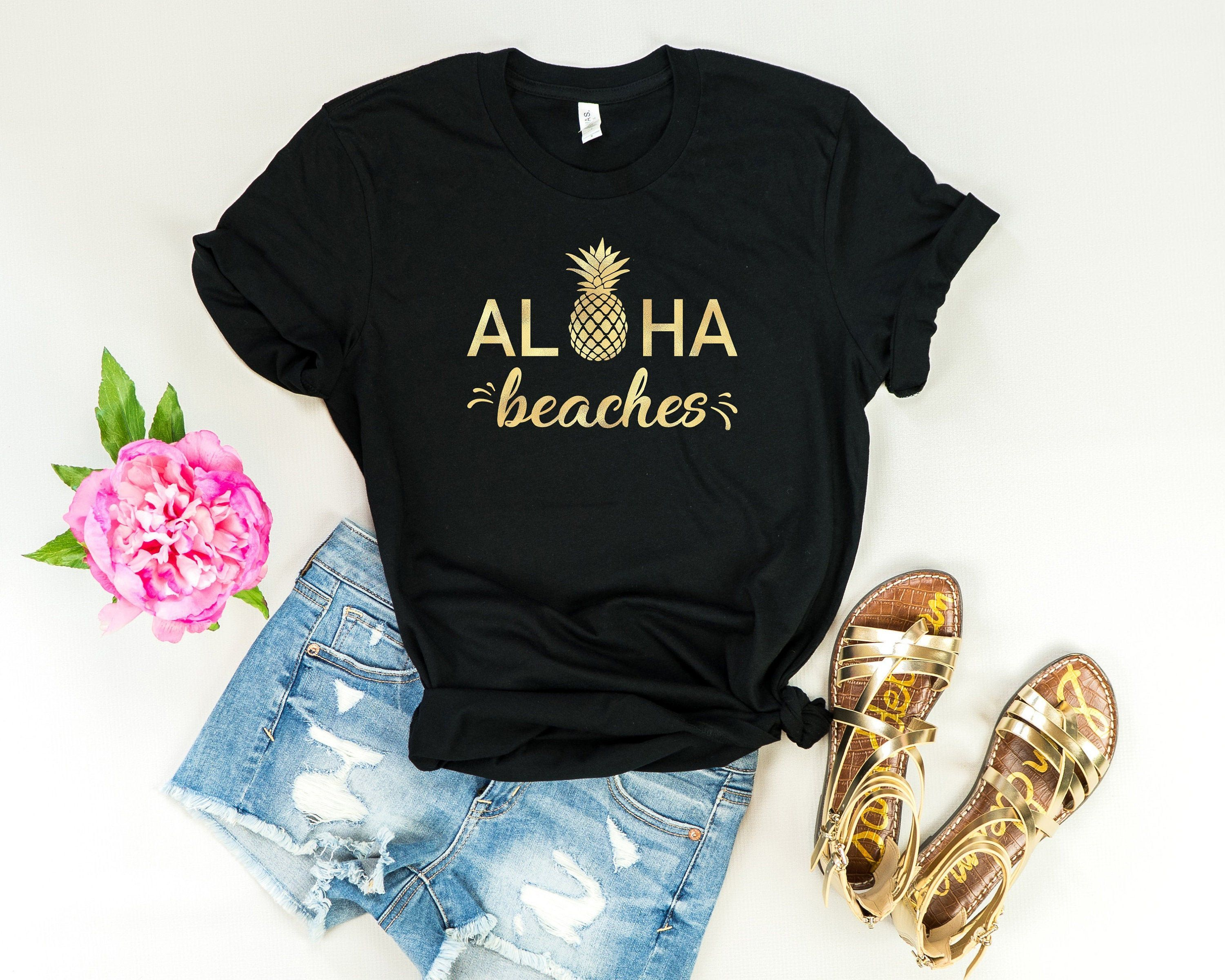 Aloha Beaches, Summer shirt, vacation shirt, beach cover up, beach shirt, beach vacation shirt, honeymoon shirt, vacay mode, Pineapple shirt #beachhoneymoonclothes Aloha Beaches, Summer shirt, vacation shirt, beach cover up, beach shirt, beach vacation shirt, honeymoon shirt, vacay mode, Pineapple shirt #beachhoneymoonclothes