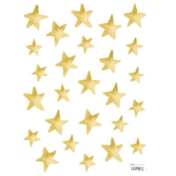 Vinilo De Estrellas Para Pegar En La Pared De Color Mostaza