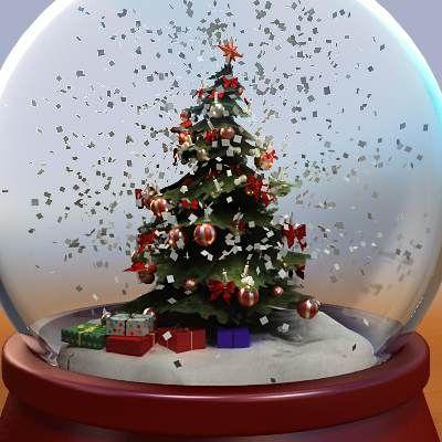 christmas snow globes christmas tree snow globe