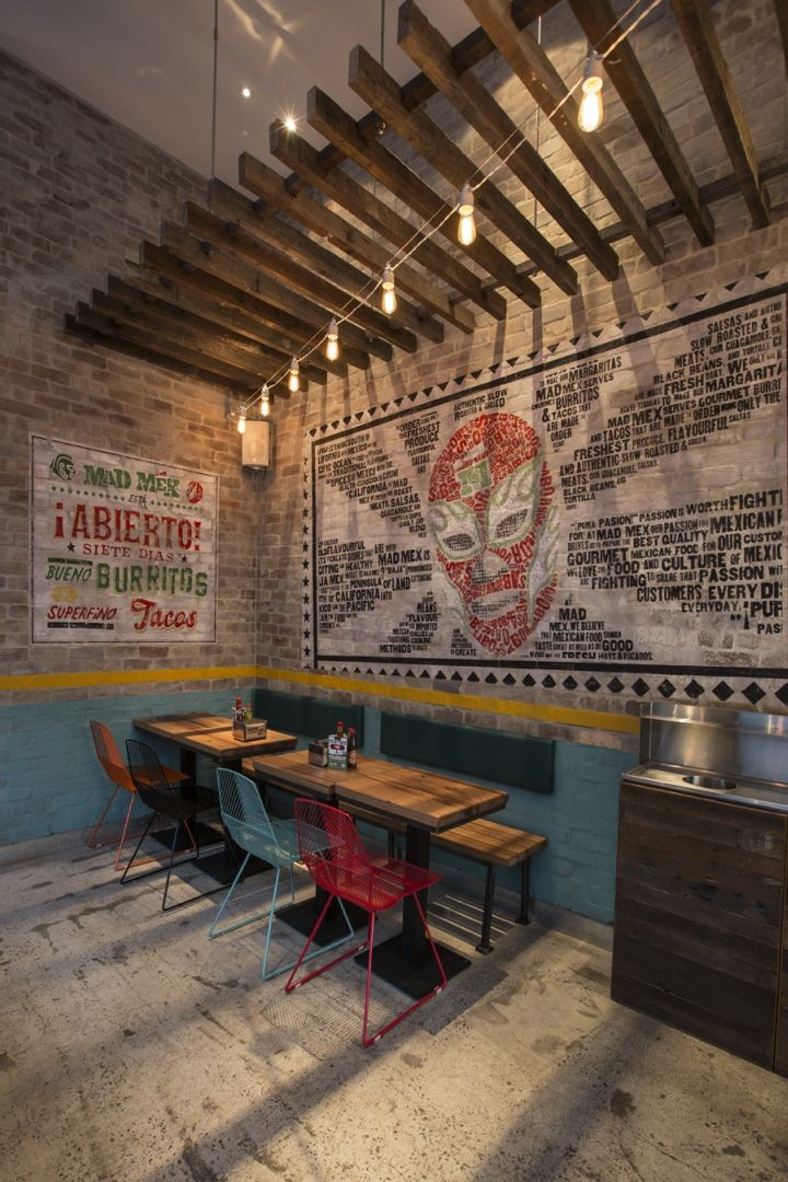 Mad Mex Restaurant by Morris Selvatico Interior Design, Sydney  Australia   Retail Design Blog