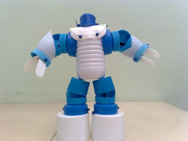 Eco Robots Recycled Art Plastic