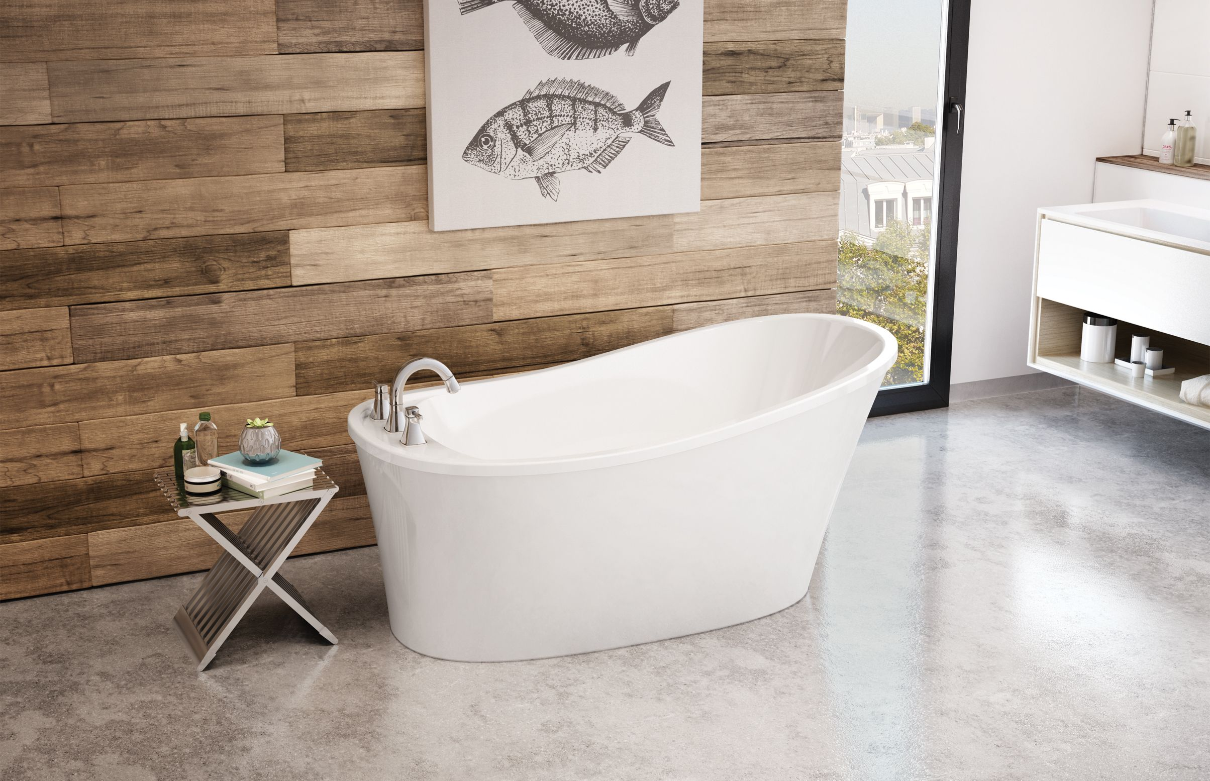 Ariosa 6032 Bathroom Remodel Bathtub Soaker Tub Free