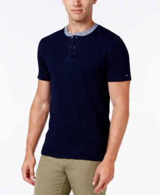 TOMMY HILFIGER Tommy Hilfiger Men's Twisted Herringbone Terry Henley . #tommyhilfiger #cloth #shirts