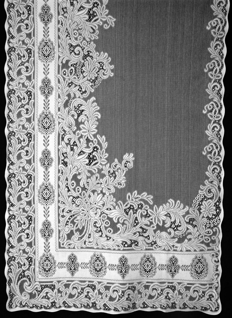 woven pin panels of curtains few is patterned nottingham one on old irish vintage the curtain looms lace out panel cotton rose coverings year window straight highland sources