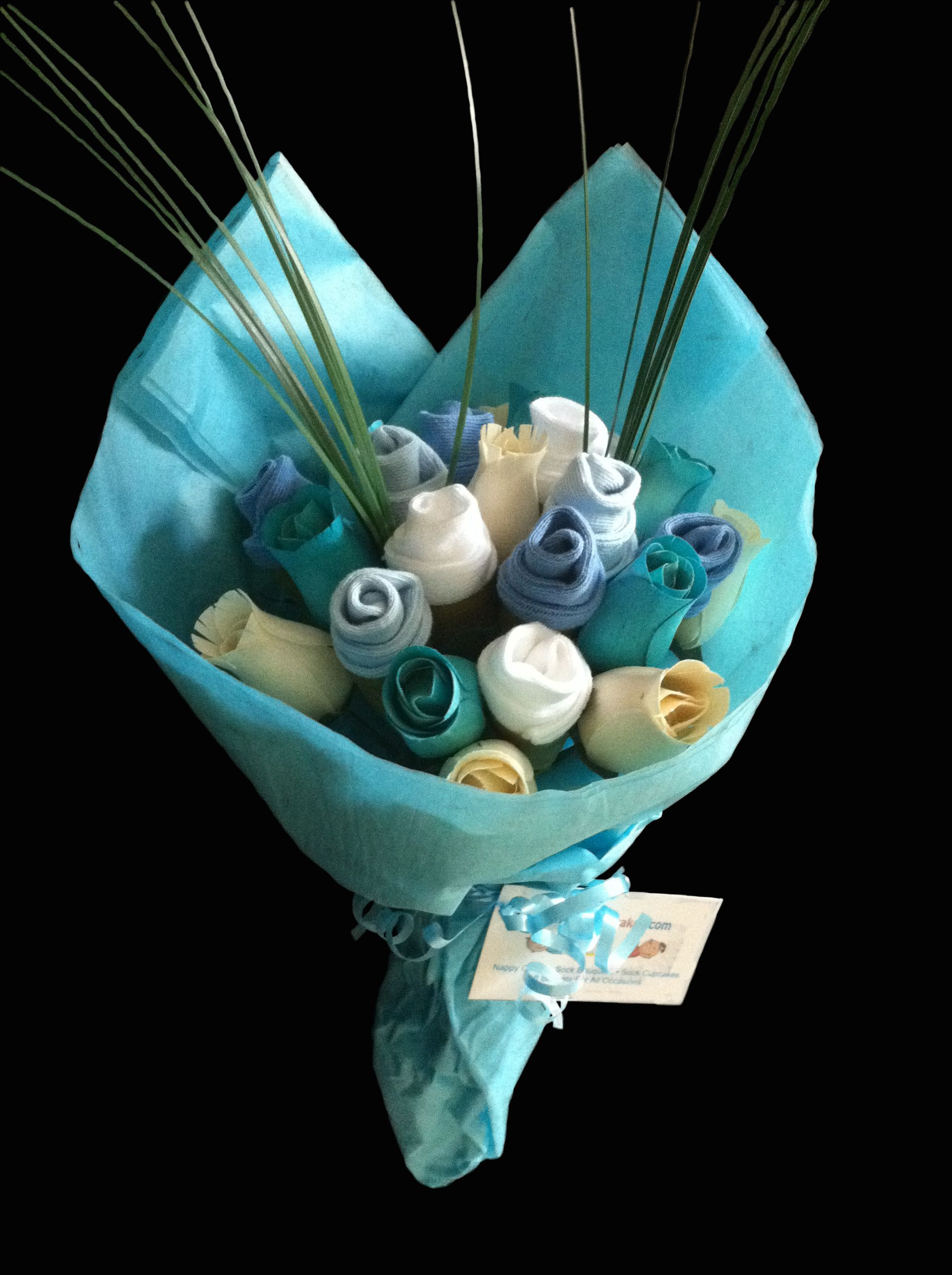 Handmade Large Baby Boy Sock Bouquet Baby Socks Flowers Baby Sock Bouquet Baby Socks Flower Bouquet